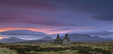 Abandoned Croft, Tongue, Sutherland, Scotland, high, moor wind, remoteness, house, old, pre-dawn, buffetted, light  photo