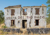 Andalucian Ruin, Grazalema, Andalucia, Spain, dilapidated, house, drinking, landscapes, buildings, crack, walls   photo