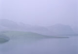 Barely Visible, Loch Eribol, Sutherland, Scotland, twilight, blue, misty, overlapping, hills, low contrast, fields, cott photo