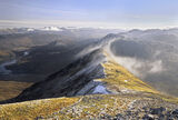 Beinnn eighe, ridge, Torridon, Scotland, summit, ridge, iced, frosted, view photo