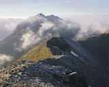 summit, Beinn Eighe, Torridon, Scotland, ridge, morning, cloud, Liathach photo