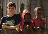 kids, Ben Plus Two, Okavango Delta, Botswana, Africa, photographs, tin shack, homes photo