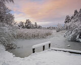 Blair, Christmas, Blairs loch, Forres, Moray, Scotland, winter, snow, clouds, water, photo