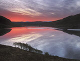 Blood Red Lurgainn, Loch Lurgainn, Inverpolly, Scotland, winter, sunrise, still, blood, red, twilight, silhouetted, marc photo