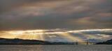 Breakthrough Inverness, Allanfearn, Highland, Scotland, exposure, panoramic, rays, golden curtain, aurora, sunlight, Kessock Bridge, Inverness, clouds