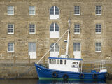 Burghead Mews, Burghead, Moray, Scotland, building, renovated, cleaner, fresher, fishing, boat, mast, windows, sail  photo