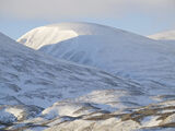 Cairngorm Abstract, Dalwhinnie, Cairngorm, Scotland, A9 fresh, morning, snow, pits, grooves, overlapping, soft, light photo