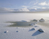 Cairngorm Freeze, Loch Morlich, Cairngorm, Scotland, snow, sky, sunrise, sun, frozen, ice, shelf, mist, floated, etherea photo
