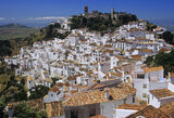 Casares, Andalucia, Spain, white, hill, towns, picturesque, red, roofed, pantile  photo