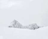 Charcoal Peak 3, Melfjordbotn, Senja, Norway, subdued, charcoal, sunlight, sleet, mountains, spindly, trees, snow,  photo