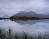 Chinese Watercolour, Loch Cul Dromannan, Inverpolly, Scotland, sunrise, magical, stillness, perfection, fragile, quiet,  photo