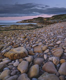 Clashach Cove Stones, Clashach Cove, Moray, Scotland, multi-coloured, stones, boulders, chatter, tide, bedrock, sandston photo