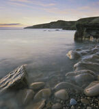 Clashach Dawn, Clashach Cove, Moray, Scotland, beautiful, delicate, soothing, dawn, morning, sandstone, sculpted, bedroc photo
