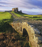 Cobbled Duffus, Duffus Castle, Moray, Scotland, glorious, winter, morning, frosted, grass, sun, cloud, colour, cobbled,  photo