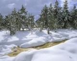 Coffee & Caster Sugar, Loch Morlich, Cairngorm, Scotland, Aviemore, burn, peat, golden, sparkle, snow, winter, melting photo