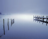 Coniston, blue, Cumbria, Coniston water, England, pre-dawn, twilight, mist, magical photo