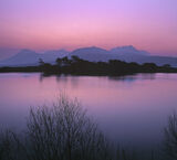 Culdromman Twilight, Loch Culdromman, Inverpolly, Scotland, pink, midnight, dusk, twilit, plum, sumptuous, glazed, water photo