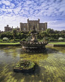Culzean castle, castle, Ayr, Scotland, National Trust, tiles, sky, dappled, fountain photo