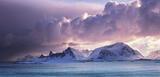 Dawn Eruption Yttresand, Yttresand, Lofoten, Norway, impressive, light, savage, winter, squall, obliterated, envelope photo