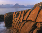 Elgol, Organics, Skye, Scotland, sunset, orange, sea photo