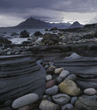 Elgol Pebbles, Elgol, Skye, Scotland, collection, rocks, shapes, colourful, tide, bedrock, pebbles, point, Cuillins photo