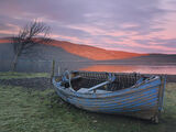 Final Curtain, Ardessie, Dundonnell, Scotland, blue, row boat, boat, Loch Broom, complement, flush, winter, ice, desolat photo