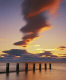 Findhorn Fantasy, Findhorn, Moray, Scotland, tide, beach, groynes, sea, cloud  photo