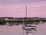 Findhorn, Moray, Scotland, moonrise, summer, still, reflection photo