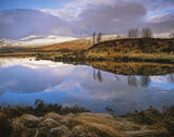 First Light Rannoch, Rannoch Moor, Glencoe, Scotland, overlapping, hummocks, tussock, grass, heather, soft, morning  photo