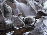 Frozen Cascade, Triple Buttress, Torridon, Scotland, summit, trek, Beinn Eighe, waterfall, movement, water, solid, ice,  photo