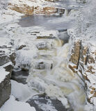 Frozen Falls Strathgarve, Strathgarve, Garve, Scotland, river, flow, Clascarnoch, bridge, thick, ice, arctic, rocky photo