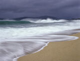 Gale Force Traigh Mhor, Traigh Mhor, Harris, Scotland, bizarre, summer, weather, swept, crashing, curling, turquoise  photo