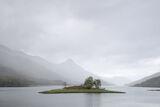 Gently, Loch Leven, Highlands, Scotland, cloud, mist downpours heaviest, rain, peaks, Pap, mountains, recession, paler,  photo