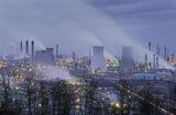 Grangemouth Blue, Grangemouth, Fife, Scotland, industrial, twilit, steamy, blue, refinery, surreal, otherworldly, liquid photo