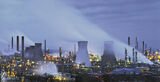 Grangemouth Pano, Grangemouth, Falkirk, Scotland, petrochemical, plant, processing, blue, ambient, artificial, steam, co photo