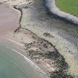 Gruinard Abstract, Gruinard Bay, West Coast, Scotland, scoping, landscape, cliffs, Yin-Yang, giant, scale, green, sea photo