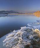 Hoar Frost Achanalt, Loch Achanalt, Achnasheen, Scotland, arctic, temperatures, edge, loch, ice, freezes, morning, blue, photo