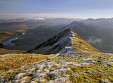 Beinn Eighe, Torridon, Scotland, Hoar Frost Beinn Eighe, summit, ridge, exhilarating, green, grass, white, frost, sparkl photo