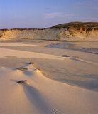 Hosta Sandscape 1, Hosta, North Uist, Scotland, dune, rippled, sand, beaches, blown, sculpted, textured, sun, evening, l photo