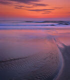 Hosta Sunset, Hosta, North Uist, Scotland, sand dunes, stream, cutting, sandy, beach, geological, rocks, red, sunset, pa photo