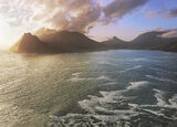 Hout Bay Gold, Chapmans Peak, South Africa, Africa, huge seas, battered, coast, Chapmans Peak, cliffs, spray, golden, su photo