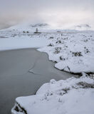 Ice 1 Loch Ba, Rannoch Moor, Glencoe, Scotland, snow, desert, featureless, white, simplistic, surreal, birch, heather, n photo