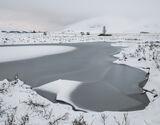 Ice 4 Loch Ba, Rannoch Moor, Glencoe, Scotland, temperatures, zero, frozen, wasteland, deep, snow, monochrome, surreal,  photo