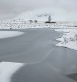 Ice 5 Loch Ba, Rannoch Moor, Glencoe, Scotland, bleak, desert, winter, blanket, thick, new, snow, barren, featureless   photo