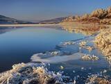 Iced Caramel, Loch Achanalt, Achnasheen, Scotland, clear, windless, beautiful, reflection, mirror, blue, ginger, birches photo