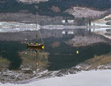 Kinlochleven Reflections, Kinlochleven, Glencoe, Scotland, beautiful, wooden, boat, reflected, valley, perfect, snow, mi photo