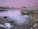 Kissed By A Rose, Rannoch Moor, Glencoe, Scotland, pink, rosy, light, Earths shadow, sunrise, Blackmount, Loch N'Achlais photo