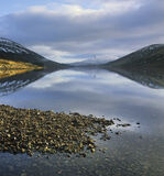 Light Harmony, Loch A Chroisg, Achnasheen, Scotland, reflection, sunrise, golden, light, beach, pebble, winter   photo