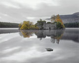 Loch An Eilein Castle, Loch An Eilein, Aviemore, Scotland, dull, grey, morning, reflection, castle, tranquility, autumn, photo