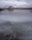 Loch Ba Starfish, Rannoch Moor, Glencoe, Scotland, bleak, elemental, winter, mountains, texture, patterns, fractures, ic photo